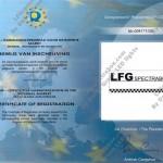 Europese Registratie LFG spectrabox 1